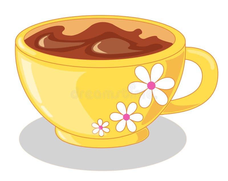 Cup mit Schokolade stock abbildung