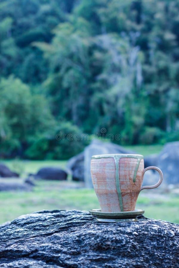 Cup Morgenkaffee lizenzfreie stockfotos