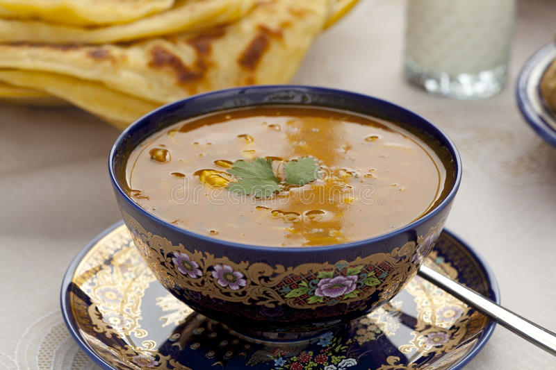 Cup Of Moroccan Harira Soup Stock Photography