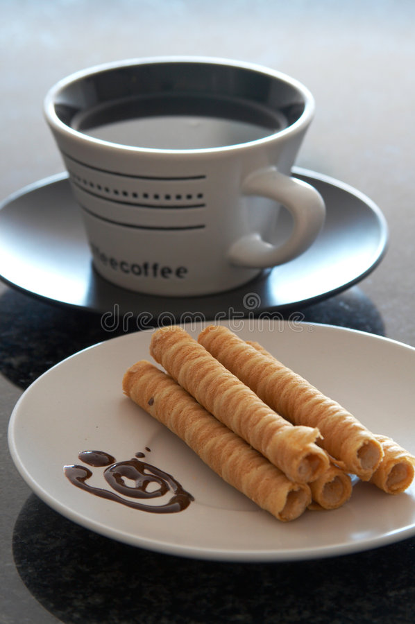 Free Cup Of Coffee And A Plate Of C Royalty Free Stock Photos - 2167048