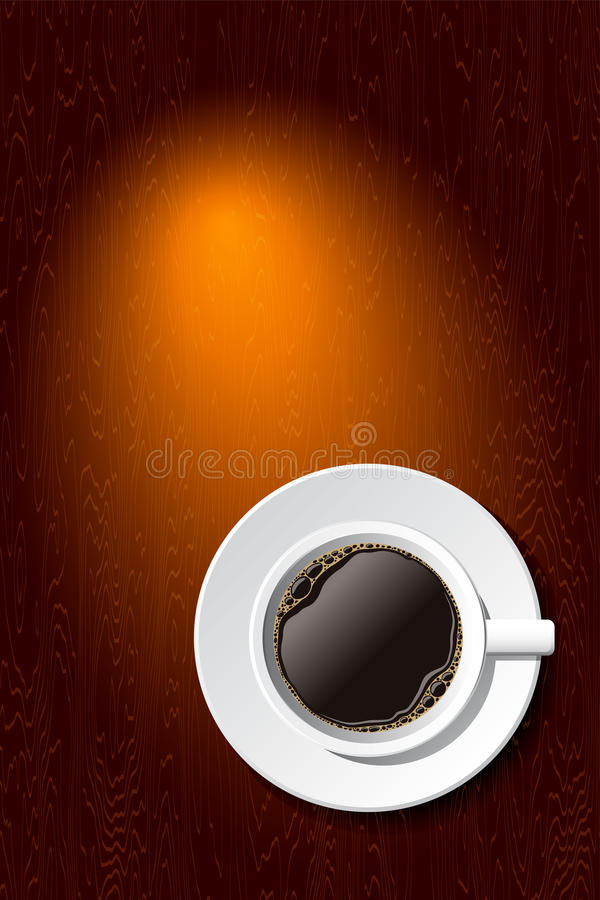 Free Cup Of Coffee On The Desk. Vector Stock Photo - 21736060