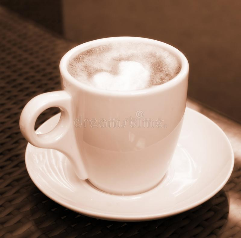 Free Cup Of Coffee - Sepia Royalty Free Stock Images - 14235749