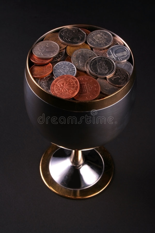 Free Cup Of Coins Stock Photography - 2237032
