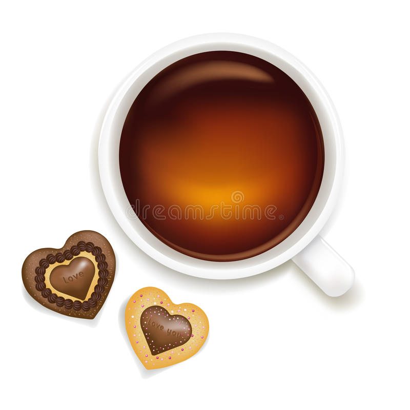 Free Cup Of Tea With Cookies. Vector Royalty Free Stock Photos - 15669958
