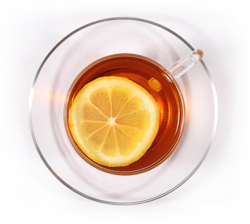 Free Cup Of Tea With Lemon Stock Photography - 54580922