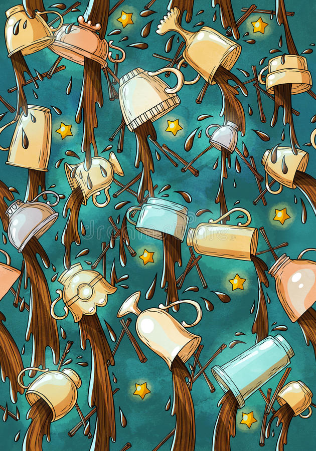Cup pattern stock image