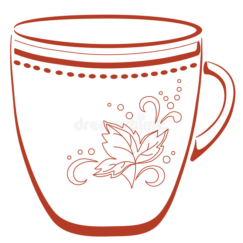 Download Cup With A Pattern, Pictogram Stock Vector - Image: 19080106
