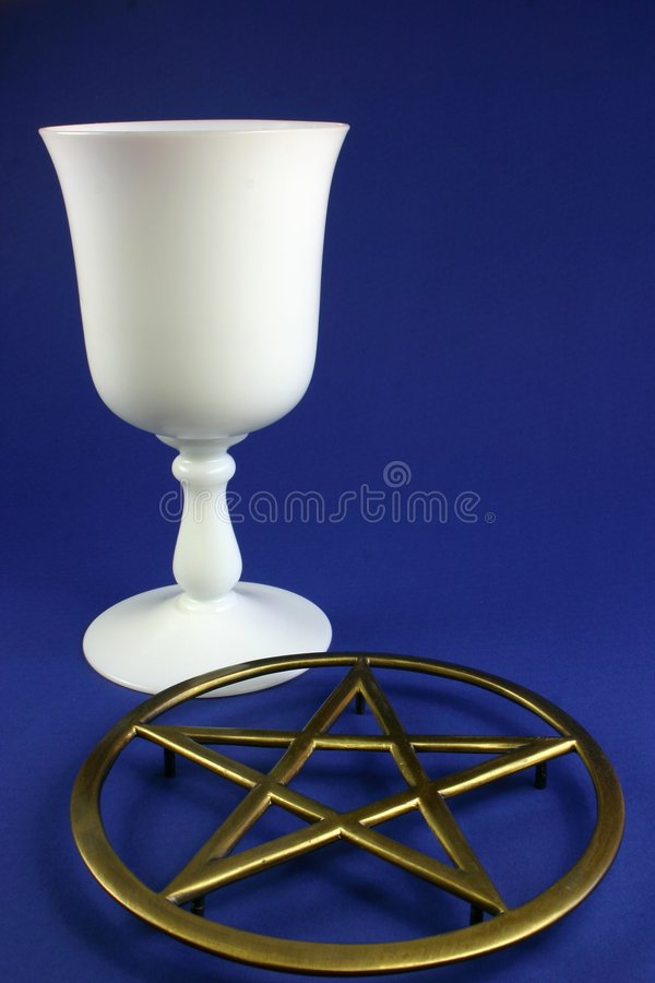 Cup and Pentacle royalty free stock photo