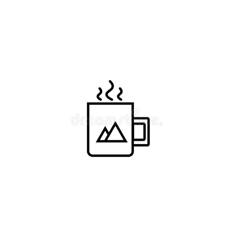 Cup with a picture icon royalty free illustration