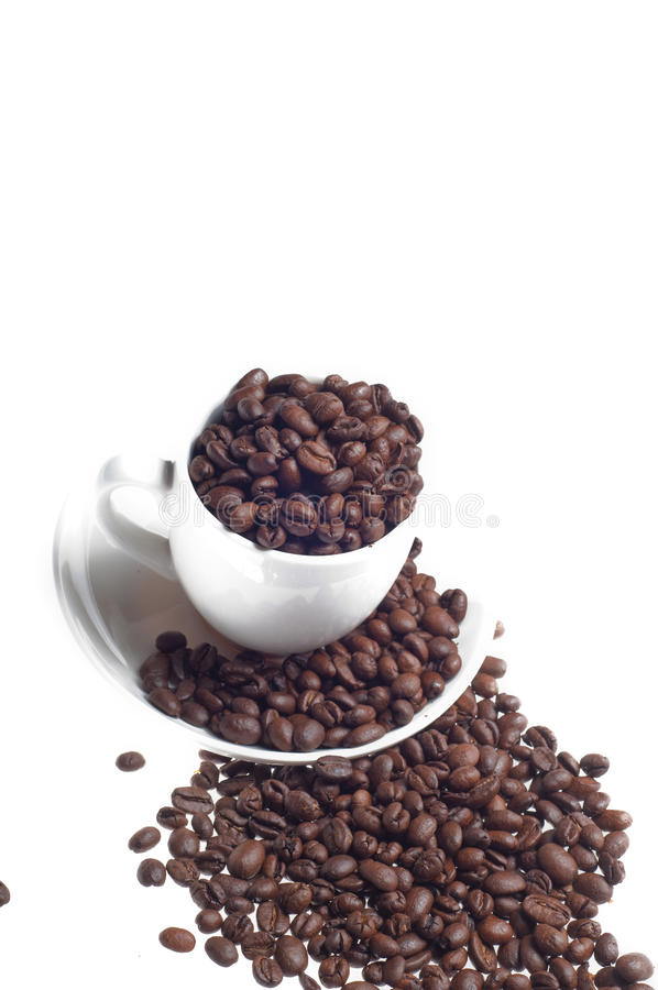 Download Cup And Plate With Caffee Beans Stock Photo - Image: 14997126