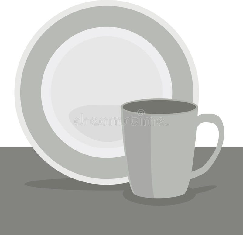 Cup and plate royalty free stock images