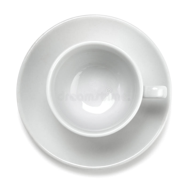 cup pustego biel obrazy stock