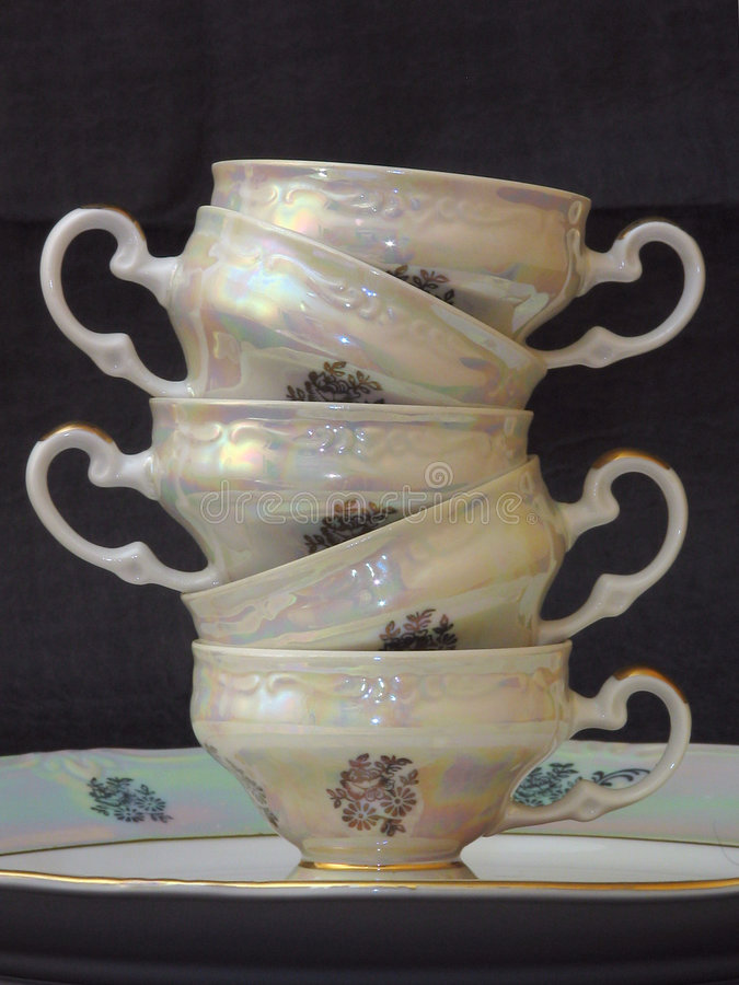 Cup pyramid stock image