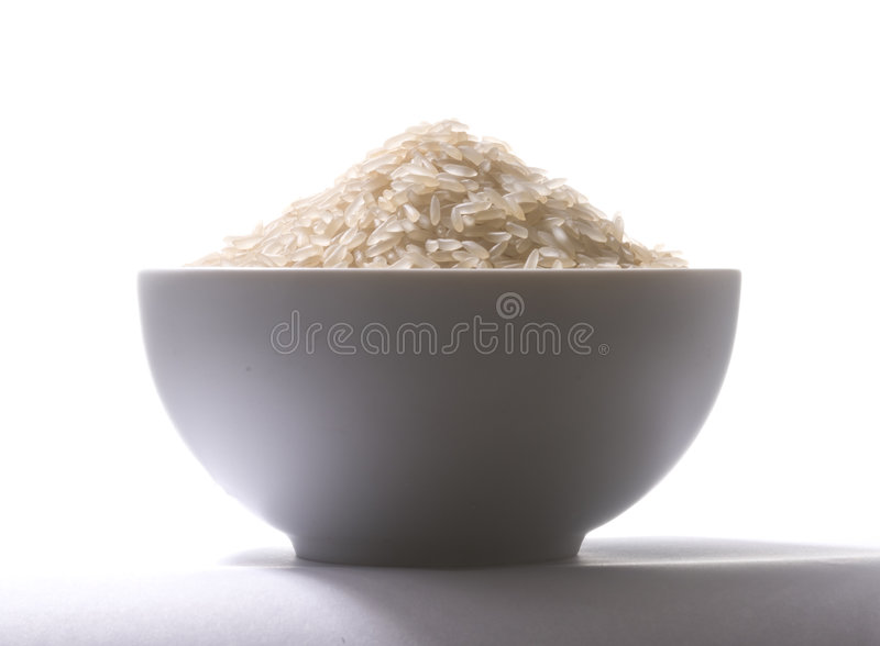 Cup of rice royalty free stock photo