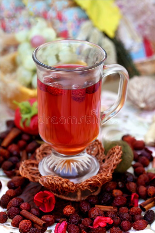 Download Cup of rosehips tea stock image. Image of canina, rose - 6581787