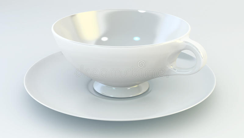 Download Cup and Saucer stock illustration. Image of over, coffee - 20796214