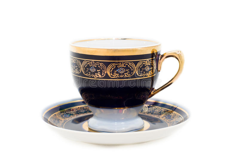 Download Cup on a saucer stock photo. Image of object, china, isolated - 23536808