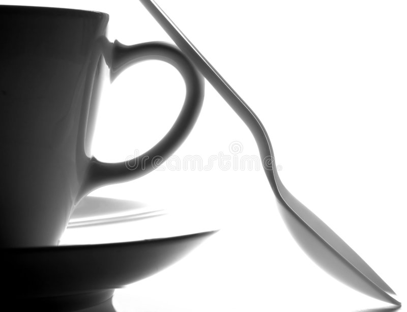 Cup,Saucer And Spoon Royalty Free Stock Photography