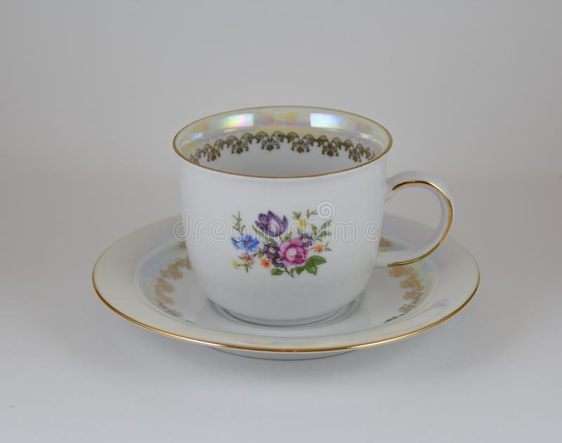 Cup and saucer. For tea stock photos