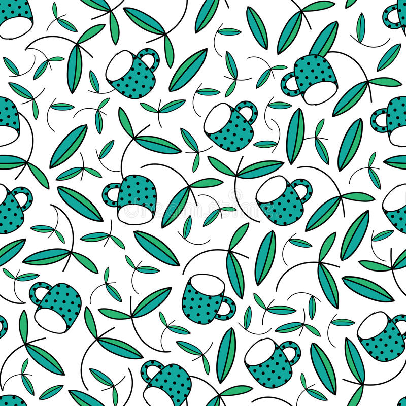 Cup Seamless Pattern Background Vector stock images