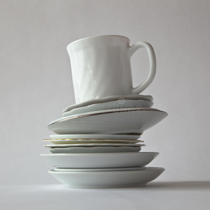 Download Cup On Several Saucers stock image. Image of saucer, unsteady - 29054971
