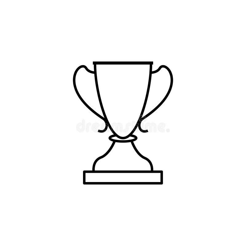 Cup, Sieger, Sportentwurfsikone Element der Wintersportillustration Zeichen und Symbolikone können für Netz, Logo, Mobile benutzt vektor abbildung