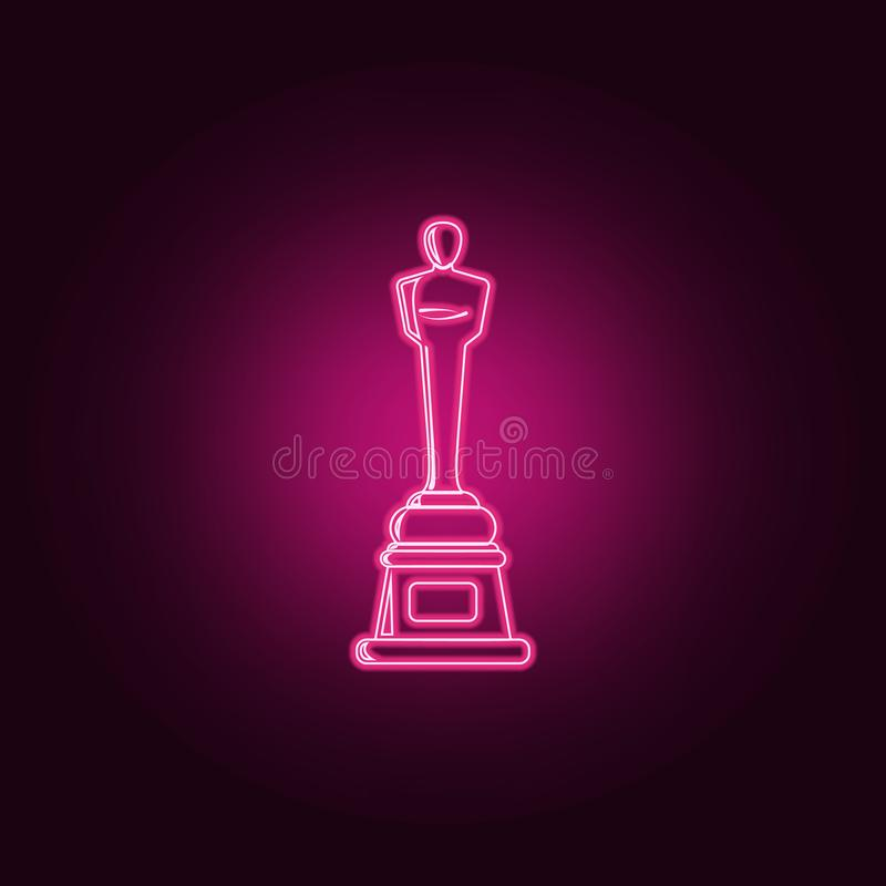 cup with silhouette of man icon. Elements of Sucsess and awards in neon style icons. Simple icon for websites, web design, mobile stock illustration