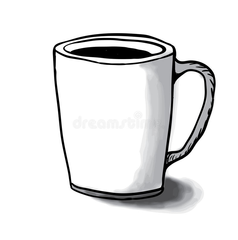 Cup Sketch, Vector Illustration Stock Vector - Illustration of white ...