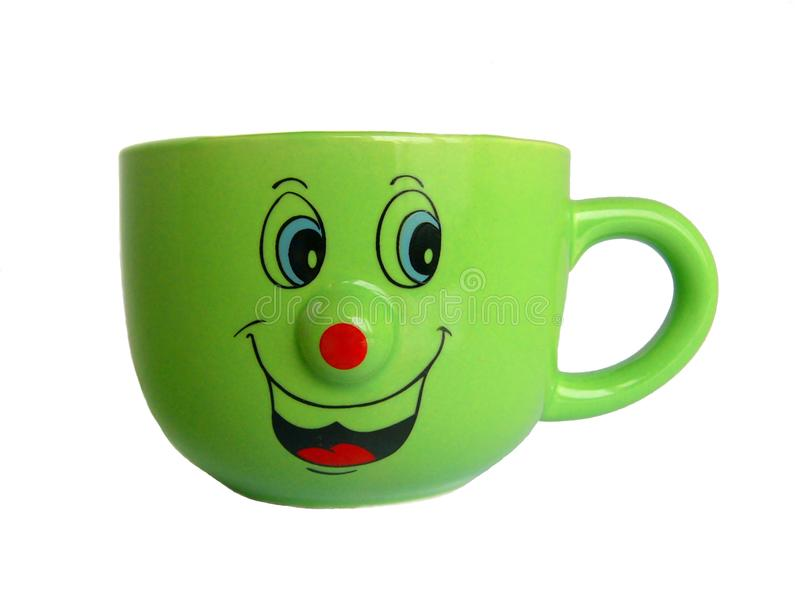 Cup with smile royalty free stock photos