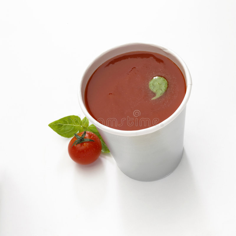 Cup of soup stock photos