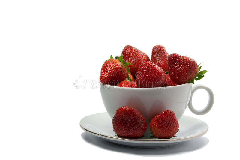 Download In the cup of strawberry stock image. Image of produce - 23380275