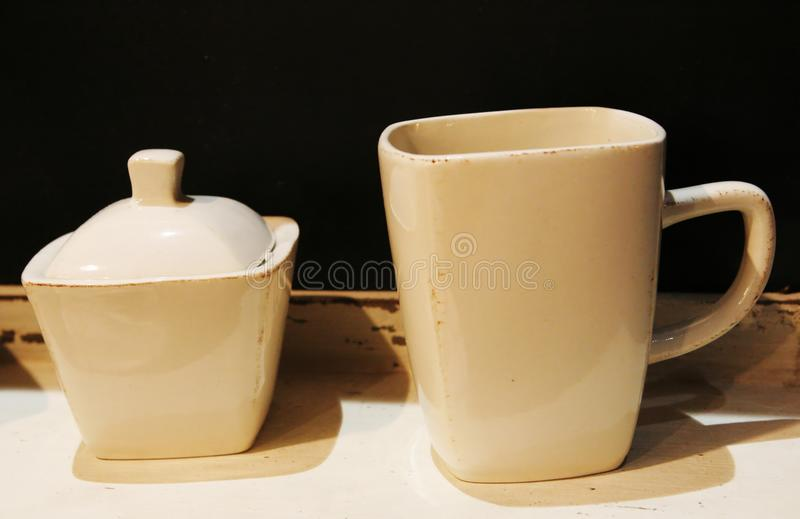 Download Cup and sugar bowl stock image. Image of intricate, residential - 2143185