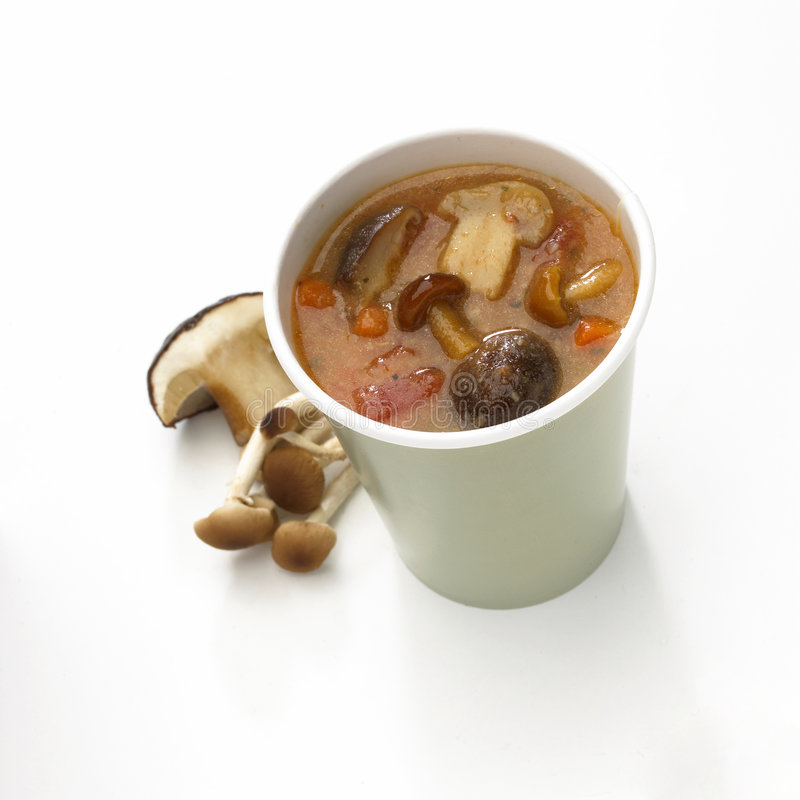 Cup Suppe stockfotos