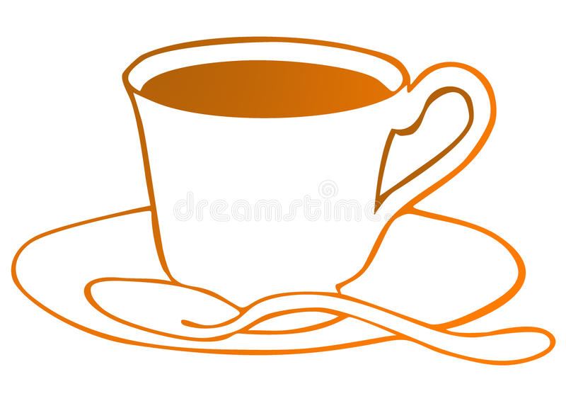 Download Cup of tea stock illustration. Illustration of morning - 10814397