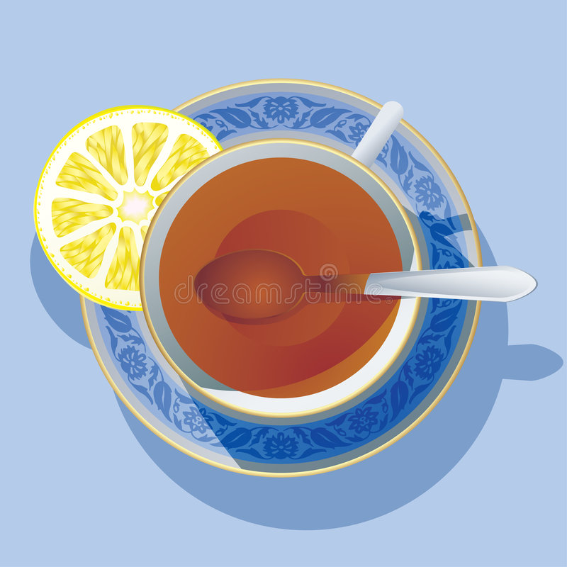 Download Cup of tea stock vector. Image of interval, blue, pause - 2846489
