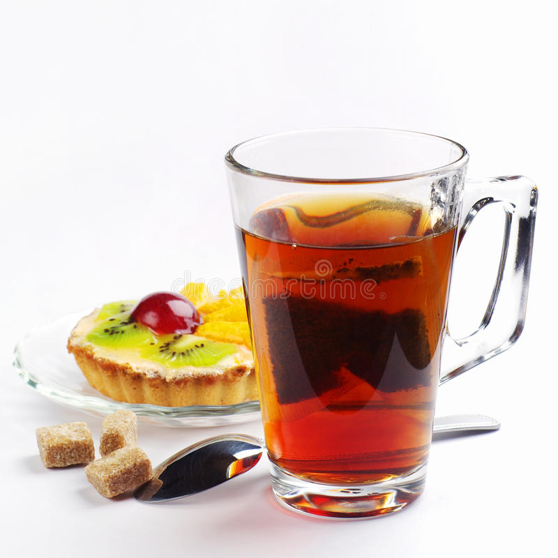 Download Cup of tea and cake stock photo. Image of tasty, biscuit - 28485454