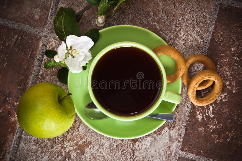 Download Cup of tea with an apple stock image. Image of fruit - 28892291