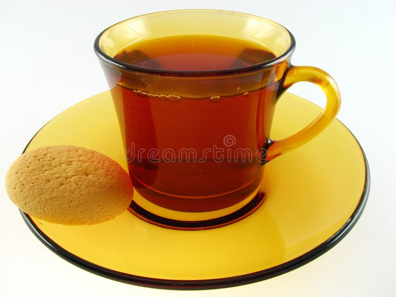 Download Cup of tea and biscuit stock image. Image of coffee, china - 1771503