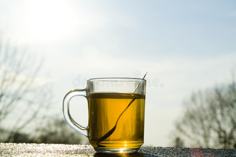 Download Cup Of Tea On A Cold Winter's Day. Stock Photo - Image: 30162674