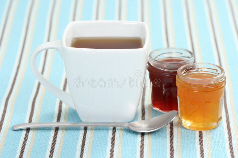 Download Cup of tea with confiture stock image. Image of confiture - 7135527