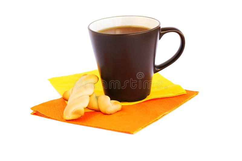 Cup of tea and cookies royalty free stock images