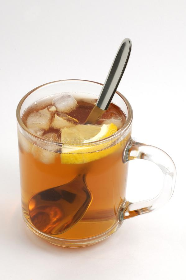 Cup of tea with ice stock images