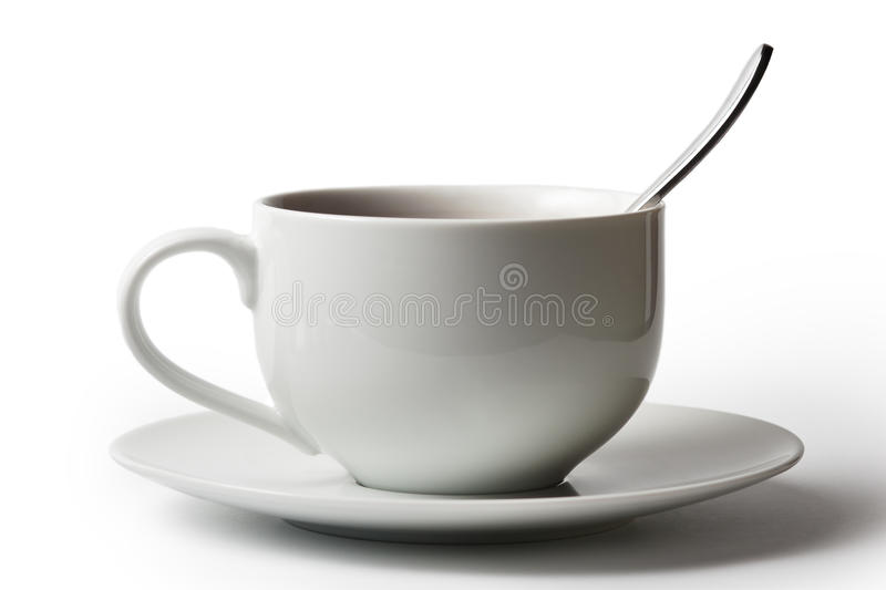 Cup of tea isolated on white. Cup of tea isolated on white royalty free stock images