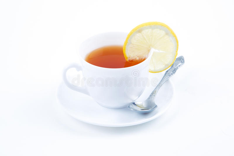 Download Cup of tea with lemon stock image. Image of isolated - 36746823