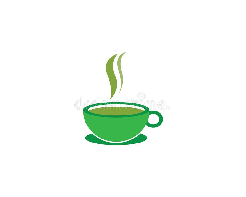 Cup of tea logo template royalty free illustration