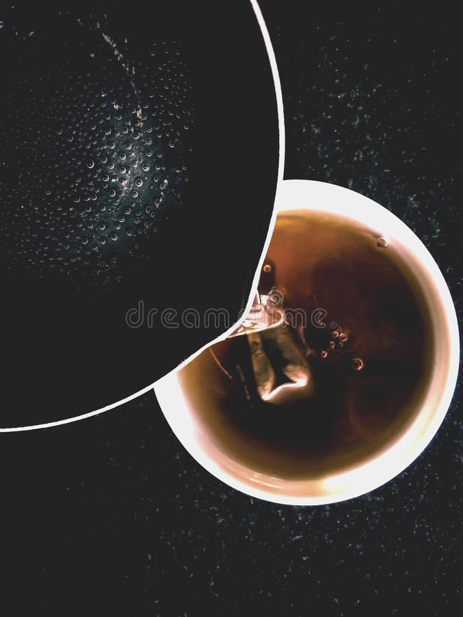 The cup of tea stock photo