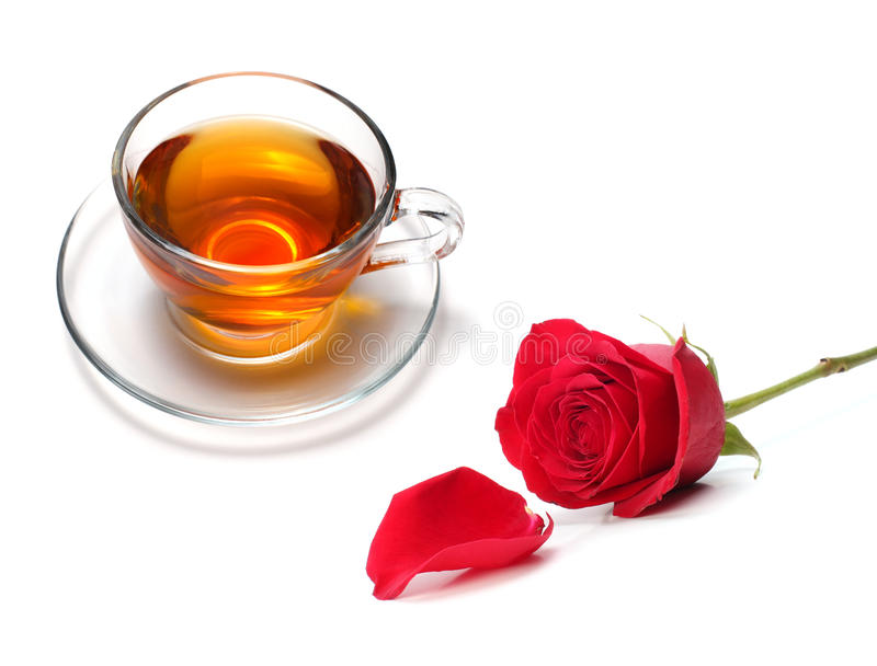 Cup Of Tea With Rose Royalty Free Stock Images