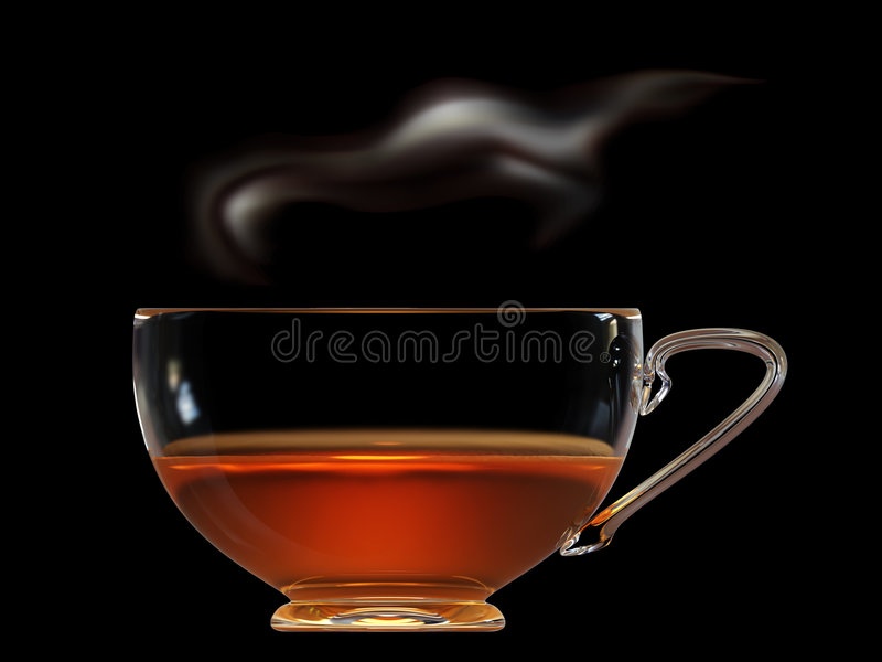 Download Cup of tea with steam stock illustration. Image of cafe - 6016810