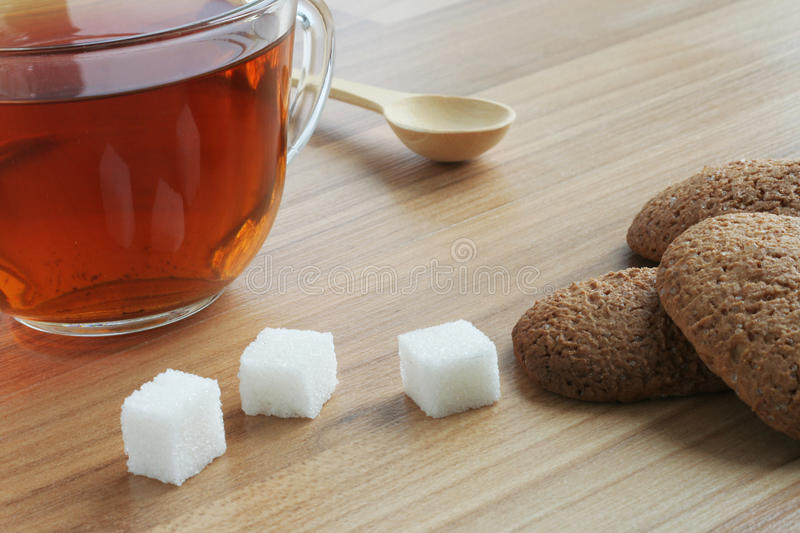 Download Cup of tea and sugar stock image. Image of bakery, over - 12472341