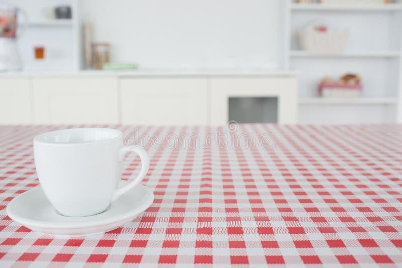 A Cup Of Tea On A Tablecloth Stock Photos